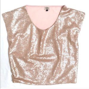 BLUSH Street Couture sequin top Size XS